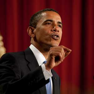 President Barack Obama speaking